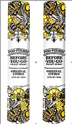 Poo-Pourri Before-You-Go Toilet Spray Travel Size  Citrus Scent  ((LOT OF 2))