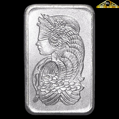 1g PAMP Suisse Platinum MultiGram Minted Fortuna Bar in Assay