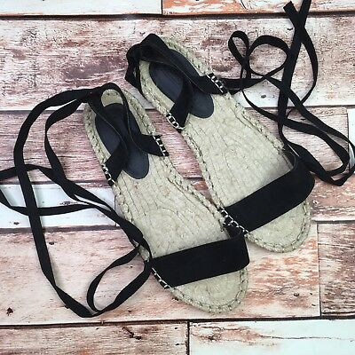 d667992a18c9 ASOS Womens Size US 5 Tan Black Suede Gladiator Lace Up Flat Sandals