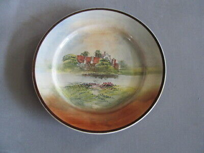 "VINTAGE ROYAL DOULTON PLATE   "" SHAKESPEARES COUNTRY ""   27cm"