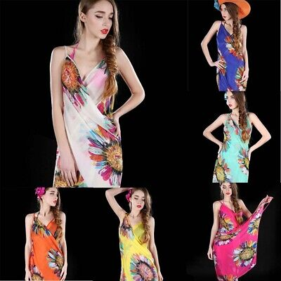 a2a839830d Women Chiffon Beach Bikini Cover Up Wrap Scarf Swimwear Pareo Sarong Dress  US