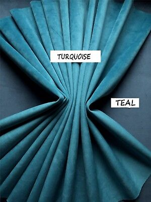 Made To Measure Turquoise/ Peacock Blue Velvet Lined Mtm Curtains. 5Ft-15Ft Wide
