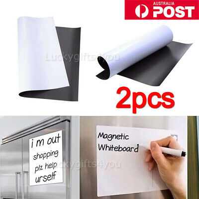 2X A4 Fridge Magnetic Whiteboard Family Office Board Memo Reminder Magnet AU