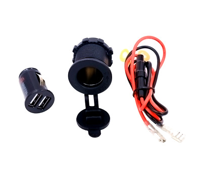 Enchufe Encendedor Mechero de Cigarrillo Adaptador Cargador USB para Coche Moto