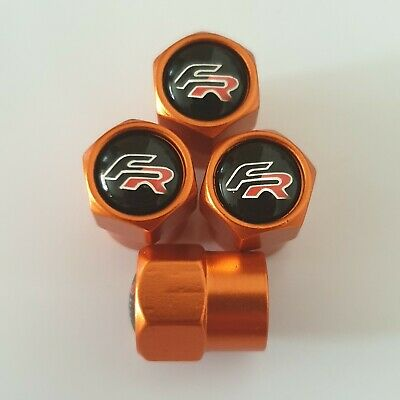 SEAT FR metal valve DUST CAPS All models other colours Mii Leon ST Cupra Arona