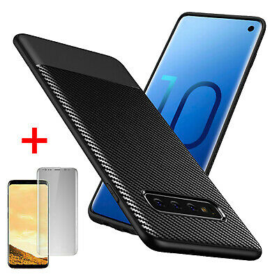 For Samsung Galaxy S10 S9 S8 Plus S10e Case Slim Shockproof Carbon Fiber Cover