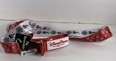 Disney Parks Holiday Christmas Reversible Lanyard New With Tag