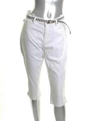 3ed2a33d Women's New Lee Belted Platinum Petite Cameron Stretch Cropped White 14P