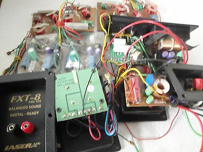 12 SPEAKER CROSSOVER ASSORTMENT Inductors capacitors for use or for parts