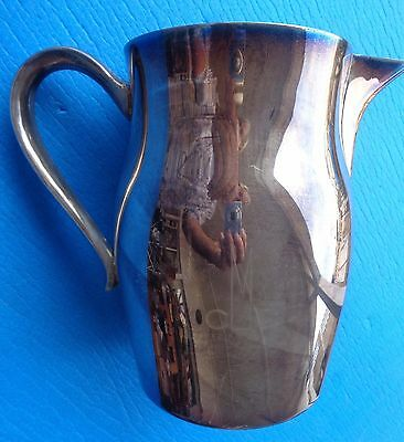 "Water Pitcher Kent Silversmiths Large 7 1/2"" tall Silverplate"