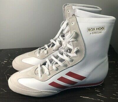 ea7b120ace ADIDAS BOX HOG x Special Men's Boxing Shoes White Red AC7148 Sz 9 New