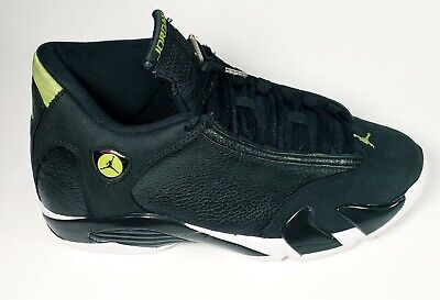 the latest 476e2 eacab Nike Air Jordan Retro 14 XIV Indiglo Black White Green 487471-005 Size 10.5  2016