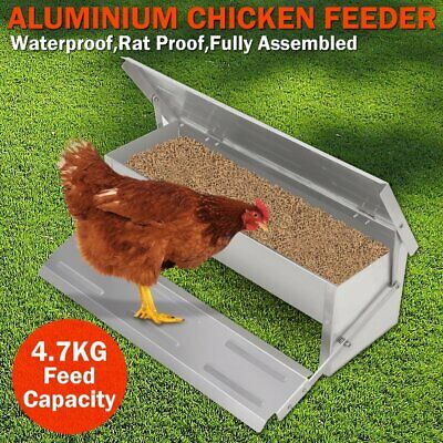 4.7KGS Automatic Feeder Treadle Self Open Aluminium Chicken Feed Chook Poultry J