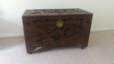 Large Carved Camphor Chest