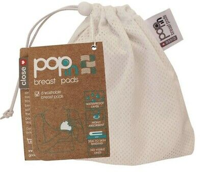 Pop-In Reusable Breast Pads with Wash Bag BNWT