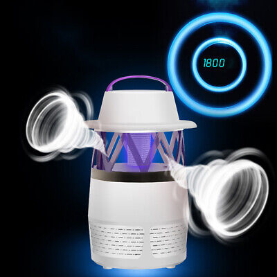 USB Electric Inhale Mosquito Killer Fly Bug Insect Zapper Trap Catcher LED Light