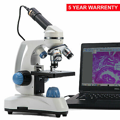 SWIFT 40X-1000X Dual Light Metal Lab Compound Microscope With Digital USB Camera