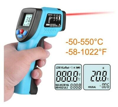 Digital Infrared Thermometer GM550 Non-contact LCD IR Laser Point Gun Temperatur