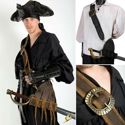 Leather & Suede Musketeer's Baldric - Stage, Costume, Re-enactment & LARP