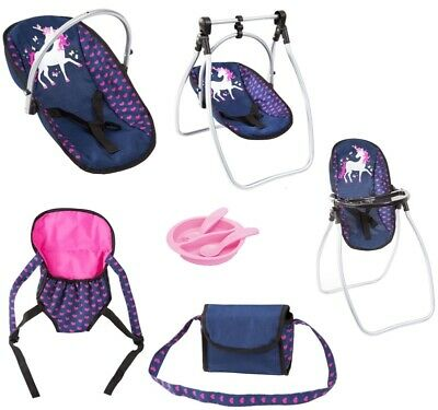 Bayer Vario High Chair 9 in 1 Set Navy with Unicorn