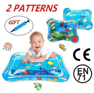 Inflatable Water Mat For Baby Infant Toddlers Mattress Splash Playmat Tummy Gift