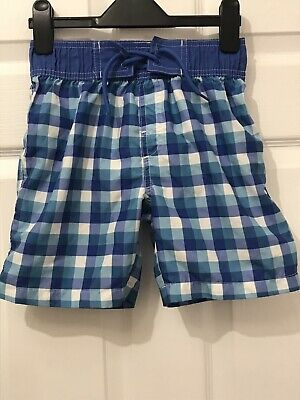 3c7d53bac8 Rebel By Primark Kids Swimming Shorts Checked Size 8-9 Years Boys Blue Swim
