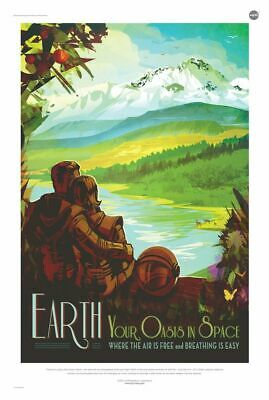 Earth Your Oasis In Space NASA Space Travel Poster 24x36