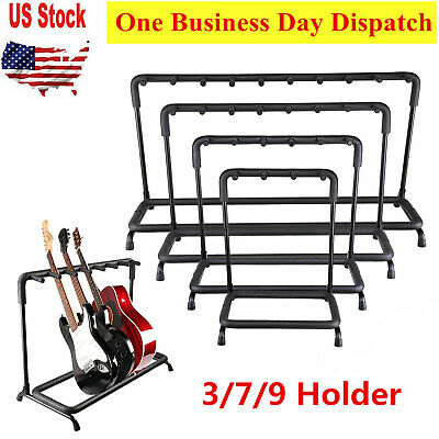 Guitar Rack Stand Multi-Instrument Floor Stand Rack Holder Holds 3/7/9 GUITARS