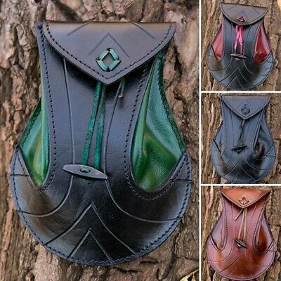 Exquisite Elvish Style Leather Pouch-bag for Stage, Costume, Re-enactment & LARP