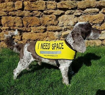 """Yellow Dog UK """"I NEED SPACE™"""" Dog Vest for nervous, anxious dogs that need space"""