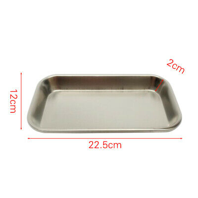 Dental Durable Thickening Stainless Steel Instrument Tray Useful Tool Rectangle