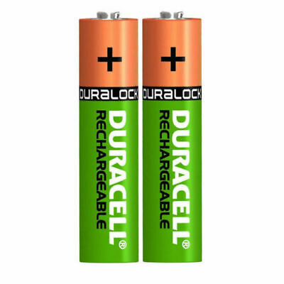 2 x Duracell AA Rechargeable Batteries NiMH 1300mAh Stay Charge HR06 Free Post