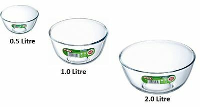 Pyrex Bowls Set Glass 3 Mixing Bowl Dish Ovenware Fridge Freezer Microwave NEW