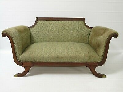 Antique - Regency sofa - mahogany - brass claw feet *for reupholstering #2123L