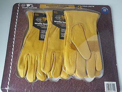 Wells Lamont Premium Leather Mens Work Gloves