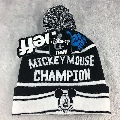 298aff7a9 NEFF BEANIE MICKEY Mouse Champion Hat Knit Disney Collection Winter ...