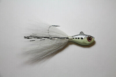 1 S /& S Bucktails RATTLETAIL Noise Making//Glass Eye Bucktail Jig CHARTREUSE 1oz.