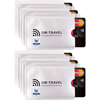 ✅TÜV Approved RFID & NFC (6) 10 Credit Card Sleeves)