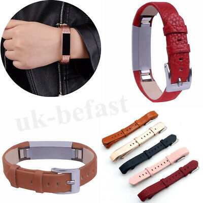 Genuine Leather Replacement Watch Band Wrist Strap For Fitbit Alta / Alta HR FAS