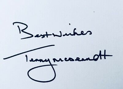 Terry McDermott HAND SIGNED White Card Liverpool Newcastle Legend *In Person*COA