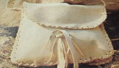Vintage Sewing Pattern Leather Chamois Clutch Bag with tassel  Reproduced