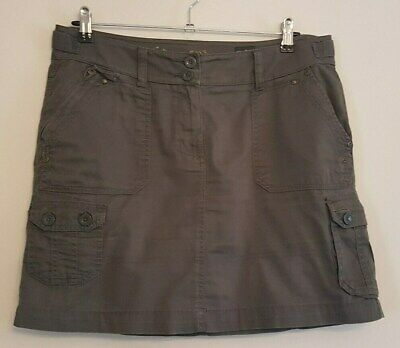 Ref 611 - MARKS & SPENCERS Ladies Womens Girls Green Cotton Summer Skirt Size 12