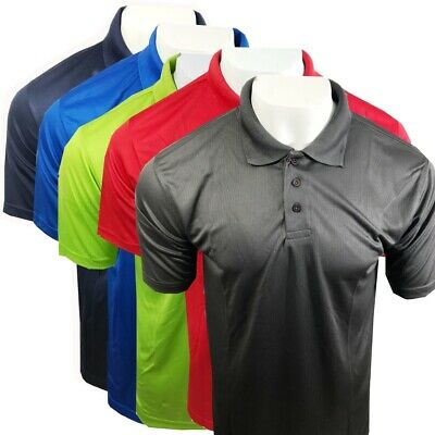 Mens Uneek Ultra Cool Acitve Polo Shirt 140 gsm 100% Polyester Breathable Fabric