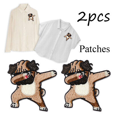 Sewing Fabric Embroidery Iron-On Patch Badge Stickers Applique Dog Patches