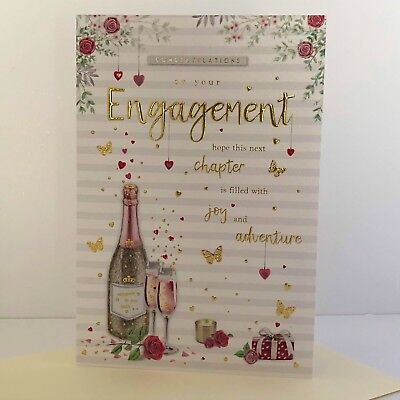 """Traditional Champagne Bottle or Glasses /"""" ON YOUR WEDDING DAY /""""  Cards"""