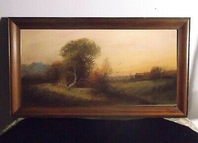 Listed Antique Chandler ca 1890 's small sweet Summer pastel painting NY NJ