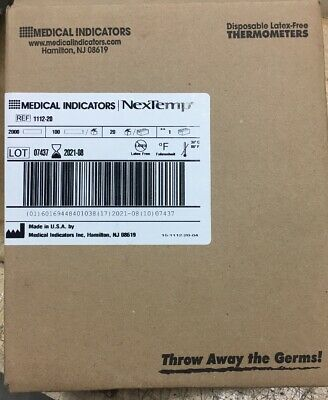 NexTemp Disposable Thermometers 1112-20