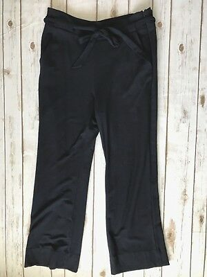 CAbi Women's Navy Blue Easy Crop Pants Super Soft Tie Waist #5177 - Size 8