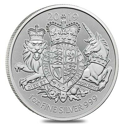 2019 Great Britain 1 oz Silver Royal Arms Coin .999 Fine BU