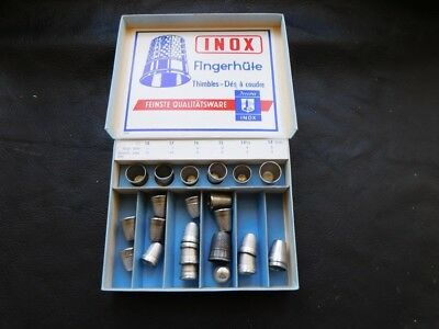 Konvolut Fingerhüte, INOX made in GERMANY, thimbles, Des a coudre